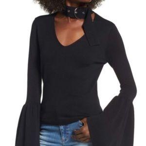 NWT-Leith Choker Bell Sleeve Sweater